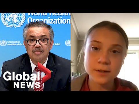 "Greta Thunberg takes swipe at COVID-19 vaccine nationalism, says world leaders need to ""step up"