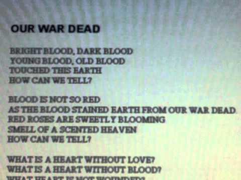 VIETNAM VETERANS 2011 poem OUR WAR DEAD - YouTube