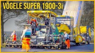 Teermaschine im Einsatz | Asphaltfertiger Vögele SUPER 1900-3i | Straßenbau