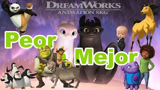 Películas Animadas de DreamWorks de PEOR a MEJOR
