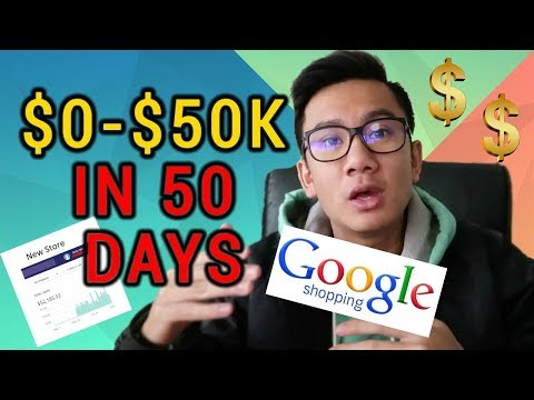 Google Shopping - Taking A New Shopify Store From $0 To $50,000 Passively In 50 Days thumbnail
