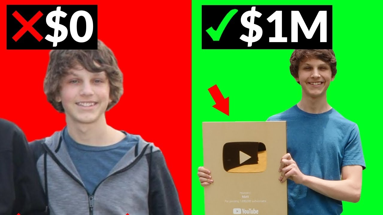 How I Went From $0 to $1 Million on YouTube (Make Money Online)