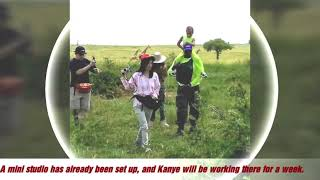Exclusive Pictures as Kanye West tours Murchison Falls national park in Uganda