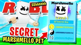 MARSHMALLOW VS *MAX* RANK PLAYER!! WINNER GETS *SECRET* MARSHMALLOW PET  ROBLOX NINJA LEGENDS!!