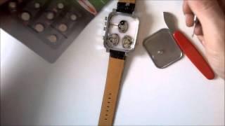 watch battery change v6 superspeed 3 time zone vměna baterie hodinek