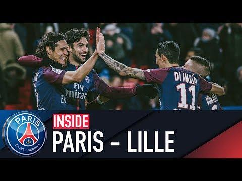 INSIDE  PARIS SAINTGERMAIN vs LILLE with PASTORE & MBAPPÉ