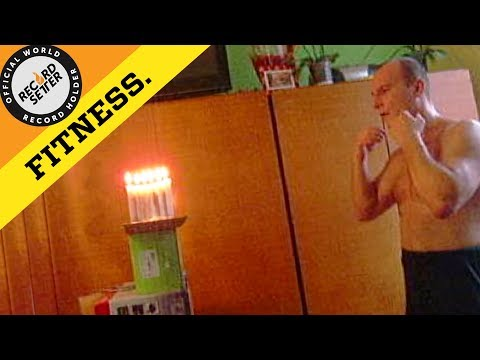 Most Candles Extinguished Using A Straight Punch!