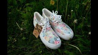 Винтажные кеды на платформе banggood Women's Vintage Floral Flat Shoes