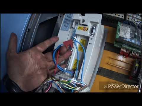 видео: башенный кран liebherr 112 , свап частотного преобразователя KEB f5 заместь АЕG