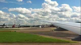 Take off from Heathrow Airport With amazing view of London, High Quality