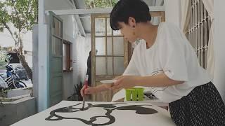 【台湾展示】ミヤザキ ライブペイント