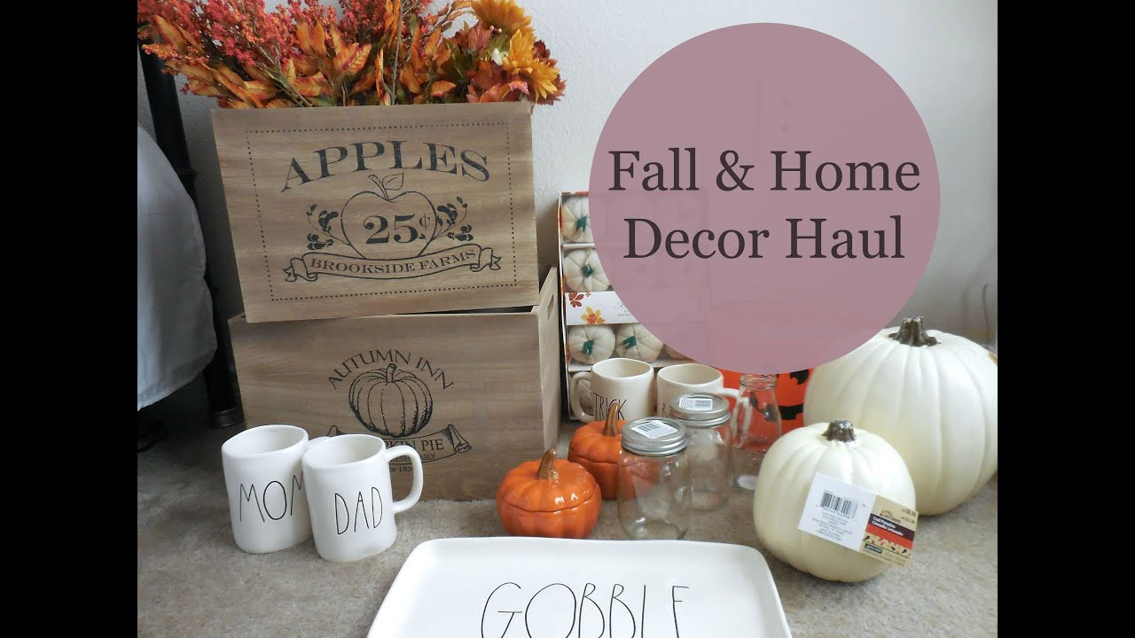 Fall home decor haul marshall 39 s target homegoods michael 39 s youtube Target fall home decor