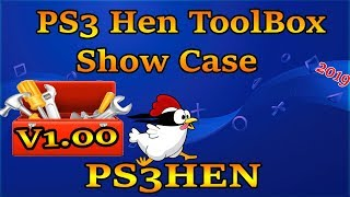 PS3 HEN TOOLBOX V1.00 Install And Show Case features 2019