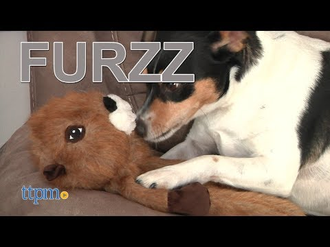 furzz-fox-dog-toy,-small-&-furzz-beaver-dog-toy,-large-from-ethical-products