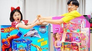 보람이와 또치의 핫휠 인형의집 장난감 놀이 Hot Wheels and Dollhouse Toys