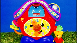 DANIEL TIGER and Fisher Price Clock ABC Musical Toy!