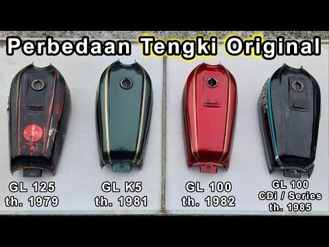 Perbedaan Tangki Original GL 100 - GL 125 - GL K5 - GL 100 CDI Series Tengki Ori Honda Motor CB