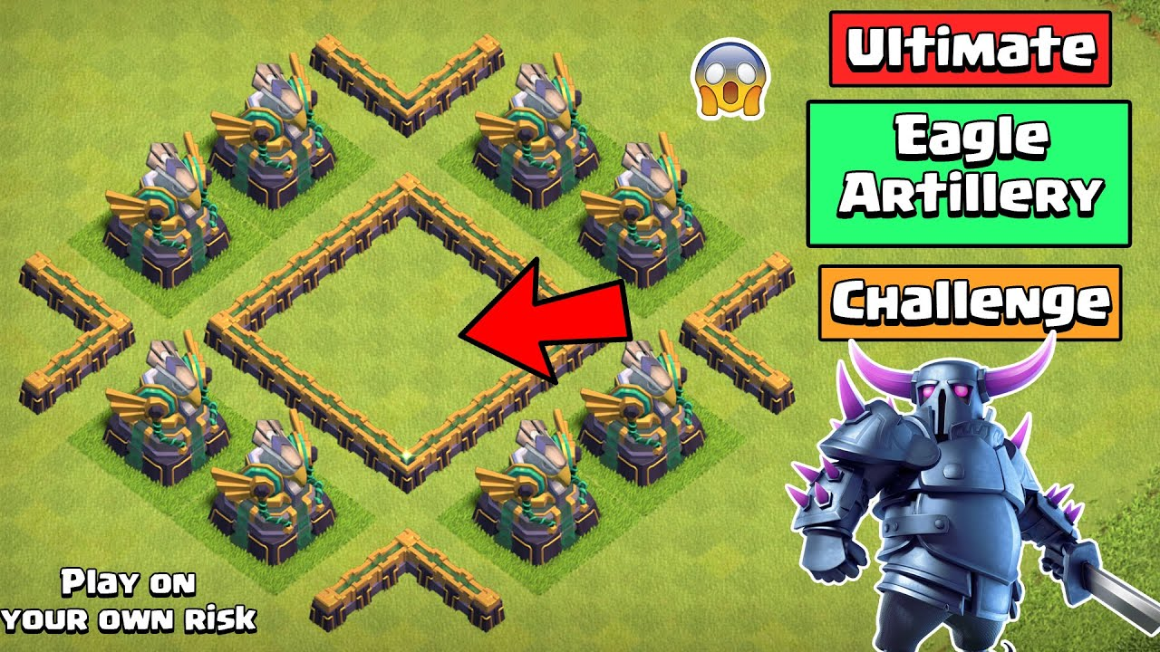 Ultimate EAGLE ARTILLERY challenge | Clash of Clans