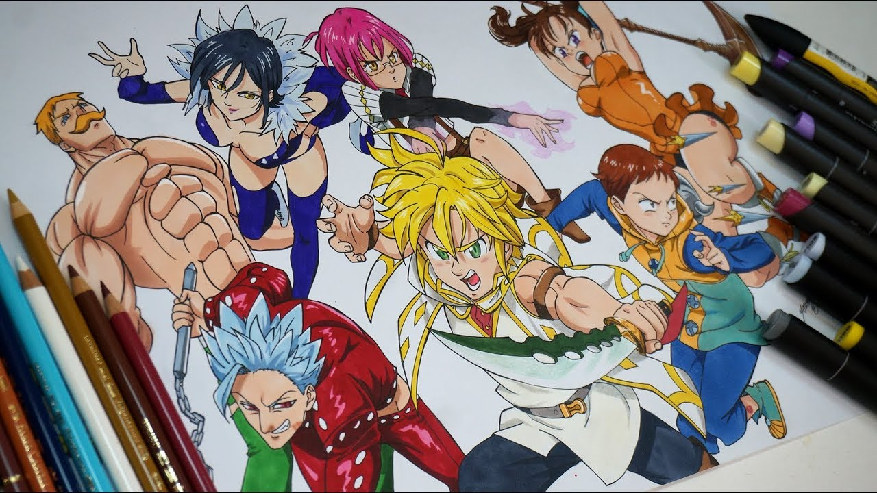 Drawing The Seven Deadly Sins Characters - YouTube