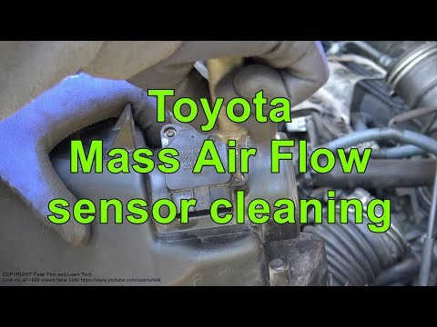how to clean mass air flow sensor toyota corolla 2000