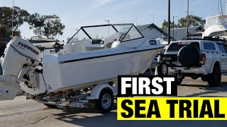 FIRST SEA TRIAL | 7 MONTH BOAT PROJECT START TO FINISH | FULL BOAT RESTORATION - PART 23