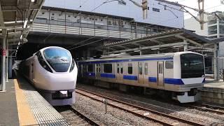JR常磐線 水戸駅 特急「ときわ」とE531系普通 JR Jōban Line Mito Station (2018.4)