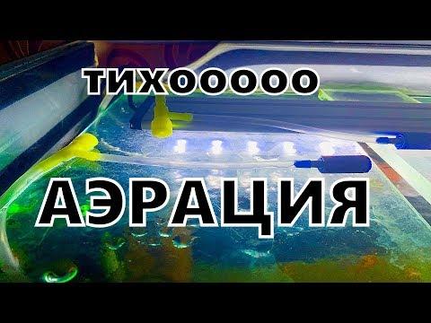 Бесшумная аэрация аквариума. Внутренний фильтр