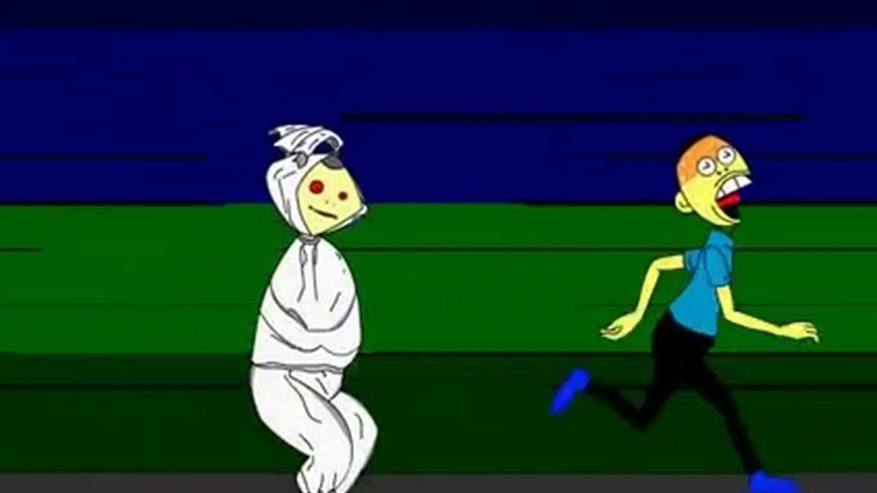 Animasi Kartun HANTU SERAM POCONG Lucu