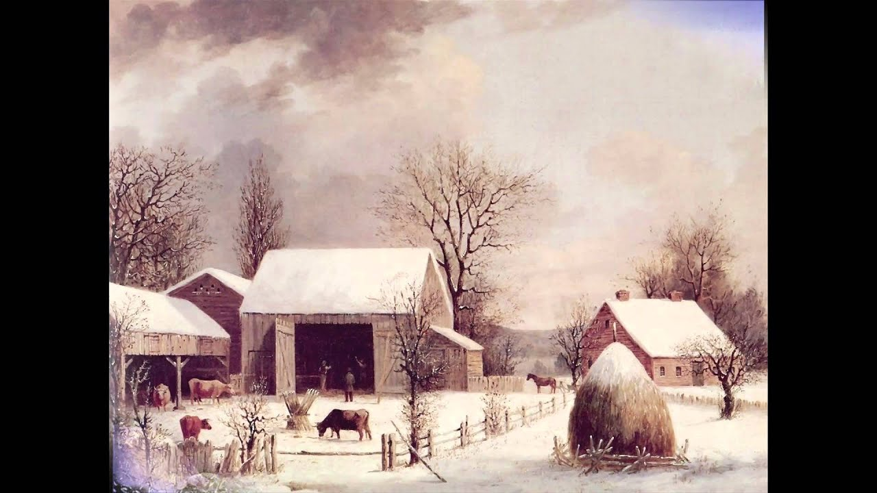 old fashioned christmas and winter scenes