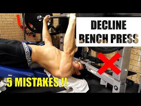 DECLINE BENCH PRESS (लोअर चेस्ट का साइज़ बढ़ाएं) STOP MISTAKES NOW!!
