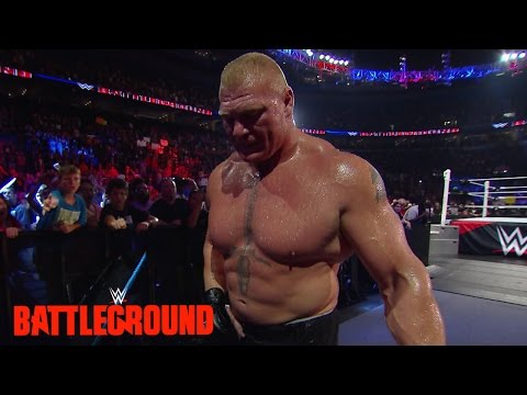 Lesnar leaves WWE Battleground: WWE.com Exclusive, July 19, 2015