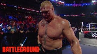 Lesnar leaves WWE Battleground: WWE.com Exclusive, July 19, 2015
