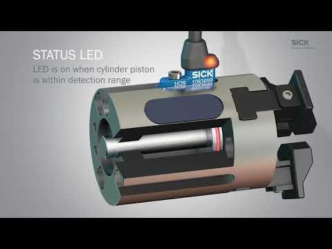 MZCG from SICK: Extremely short cylinder sensor for pneumatic grippers and mini cylinders