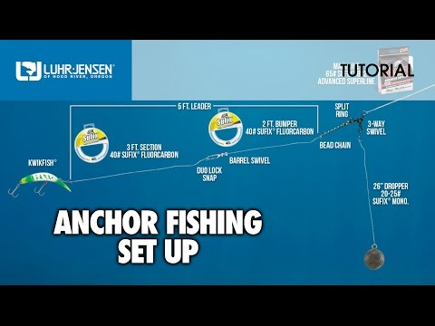 The Basic Set Up For Anchor Fishing: Luhr-Jensen® TECH TIPS