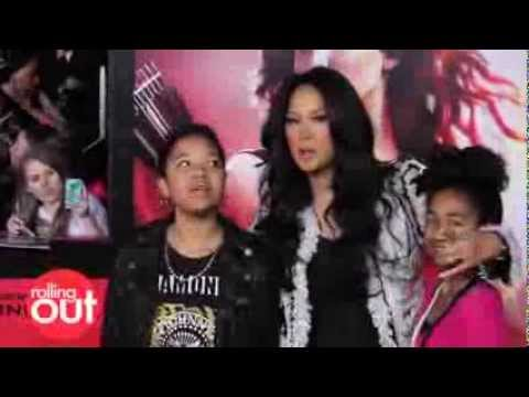 Kimora Lee Simmons takes her Daughters to Catching Fire Red Carpet Premiere!