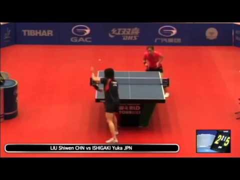 Kuwait Open 2014 1/4 Liu Shiwen vs Yuka Ishigaki