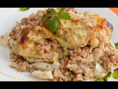 Гречка с курицей в духовке рецепт