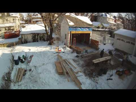 Carriage house construction time lapse, 12/21/2009