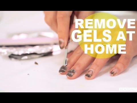 How to remove gel nails at home fast
