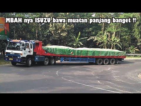 Truck Trailer ISUZU Tua Truk Tronton Isuzu Giga Hino Fuso Mercy Nissan Muatan Berat Di Tanjakan