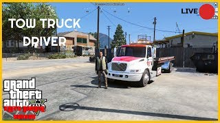 🚨THE LIFE OF A TOW TRUCK DRIVER GTA 5 RP🚨KUFFS GAMING SERVER !!!