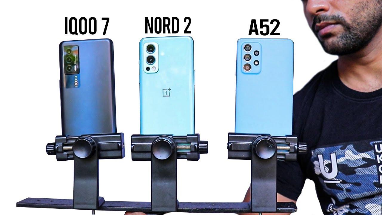 OnePlus Nord 2 vs iQOO 7 vs Samsung A52 - Testing Best Camera ?