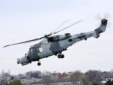 British Royal Navy - Wildcat HMA Mk2 Naval (AW159 Naval) Helicopter Inaugural Flight [480p]