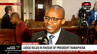 Judge rules in favour of President Ramaphosa