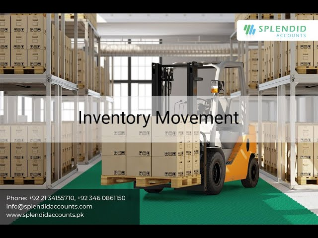 Transfer Inventory from one warehouse to another (Inventory Movement)  in Splendid Accounts - ERP