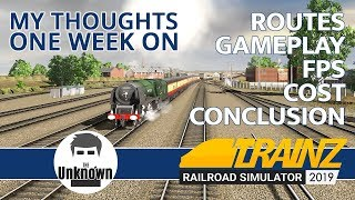 Trainz Railroad Simulator 2019. Routes, Game Play, GPU, Price. My thoughts