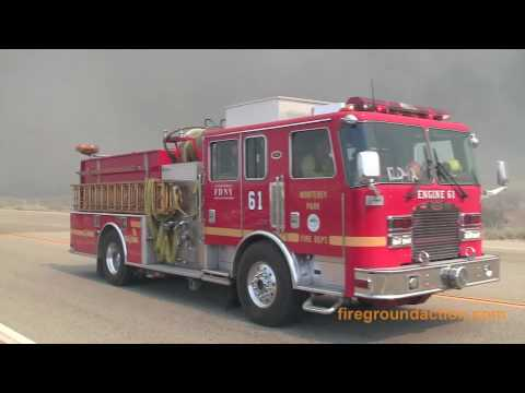 Crown I/C Brush Fire - LA County - July 29, 2010
