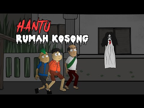Diganggu Hantu Penunggu Rumah Kosong - Animasi Horor Kartun Lucu - Warganet Life