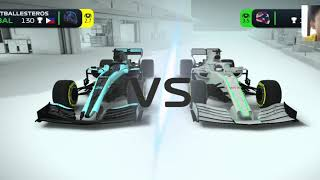 Gameplay of F1 mobile racing and roblox