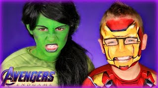 Avengers Endgame Hulk and Iron Man Makeup and Costumes
